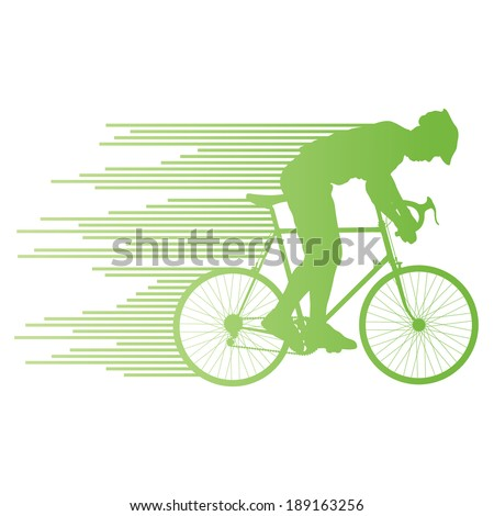 cyclist vector background