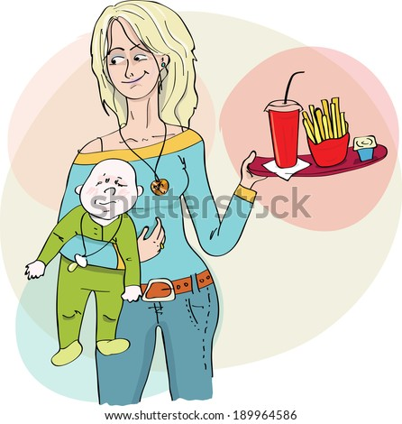 vector illustration of mother