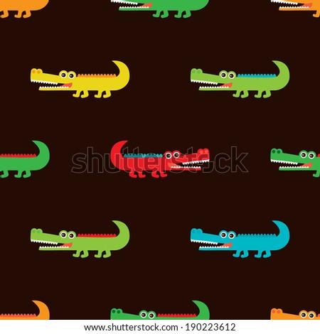 seamless crocodile for kids