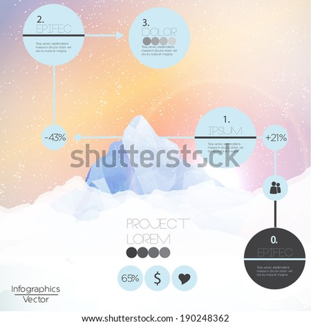 mountains infographic   vector