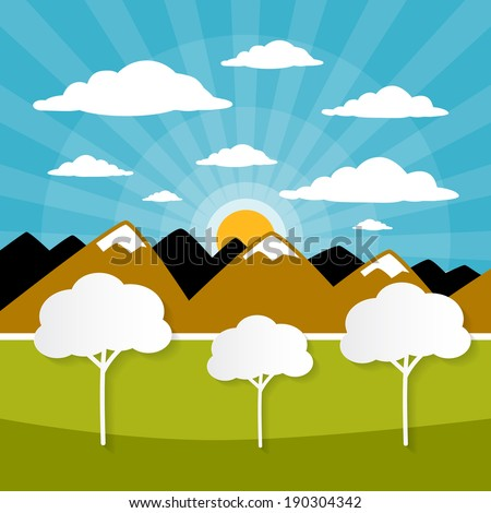 paper vector nature background