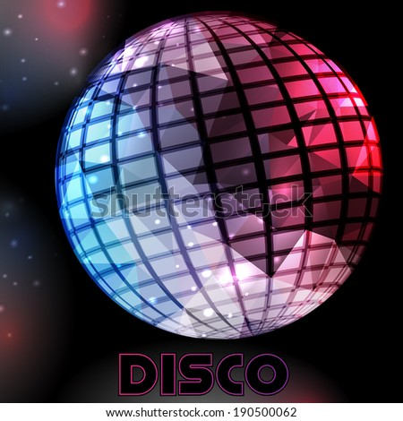 disco party flyer background