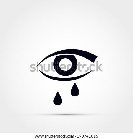 eye with tears vector