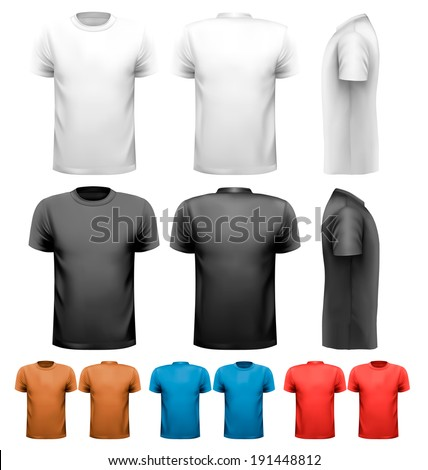 colorful male t shirts design