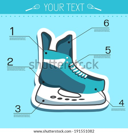 ice skate infographic elements