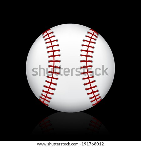 baseball ball on black
