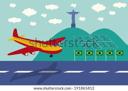 spain air plane arrival brazil