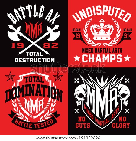 mma mixed martial arts emblems