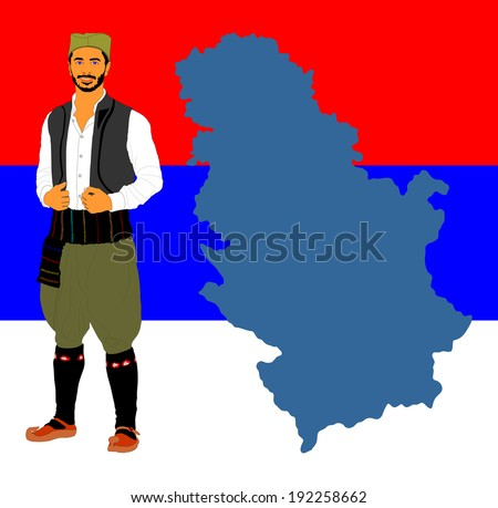 republic of serbia vector map