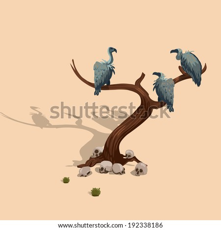 tree and vultures in the wild
