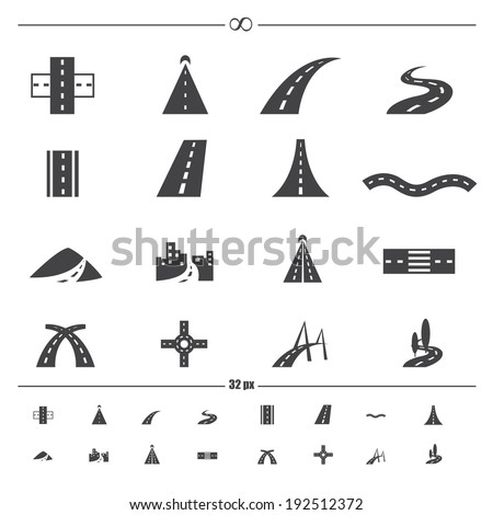 road iconsvector eps10
