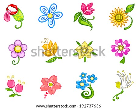 colorful fantasy flower icon
