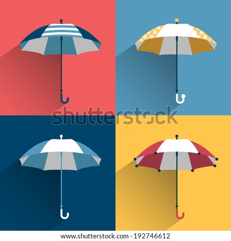 umbrella sign flat vector sign