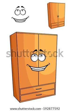 cartoon wooden bedroom cupboard