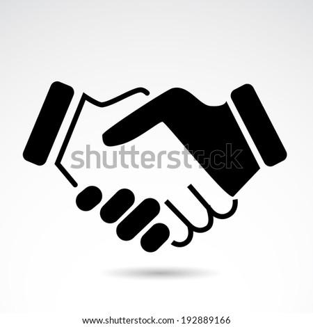handshake icon isolated on