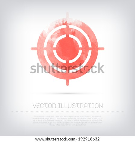vector grungy textured red