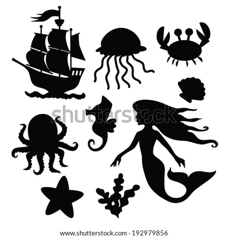 mermaid vector silhouette