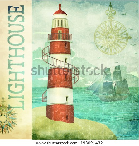 vintage lighthouse poster