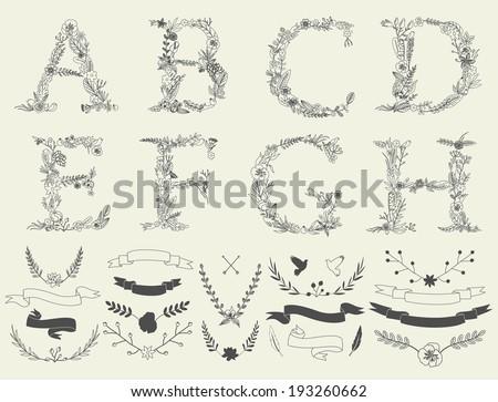 letters a  b  c  d  e  f  g  h