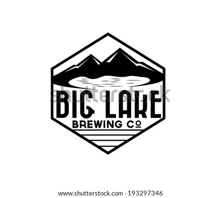 lake and mountains on brewing