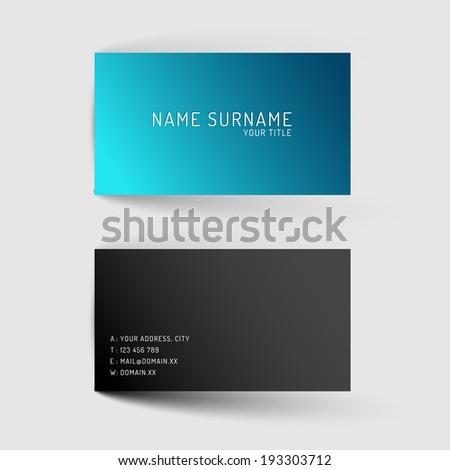modern simple blue minimalistic