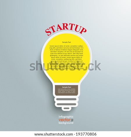 infographic design with bulb on