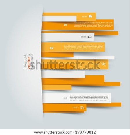 convertly orange paper stripes