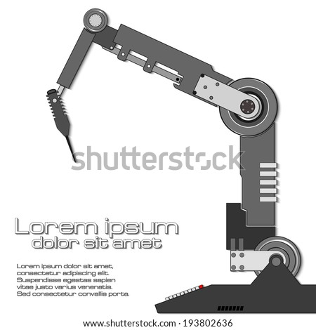 vector robotic arm hand eps 10