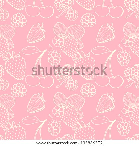 seamless pattern  of delicious