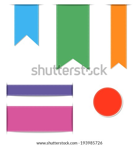set of  ribbons  vector