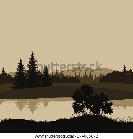 night seamless landscape