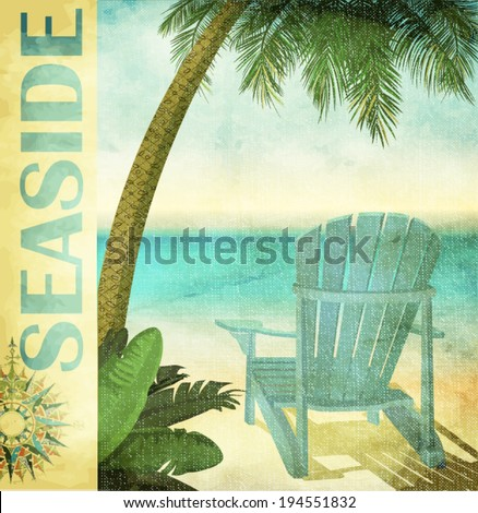 vintage summer poster  with