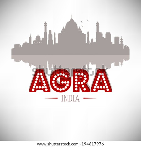 agra india skyline silhouette