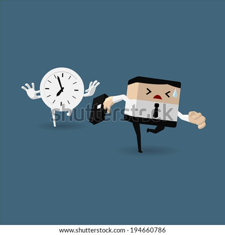businessman running race