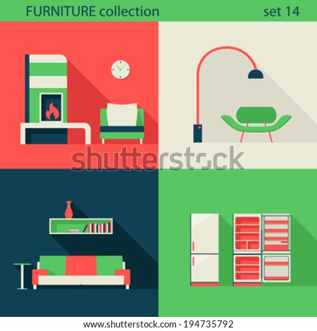 creative design furniture icons