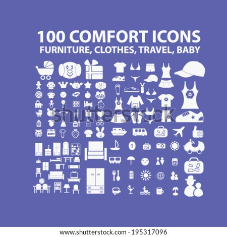 100 comfort icons  furniture