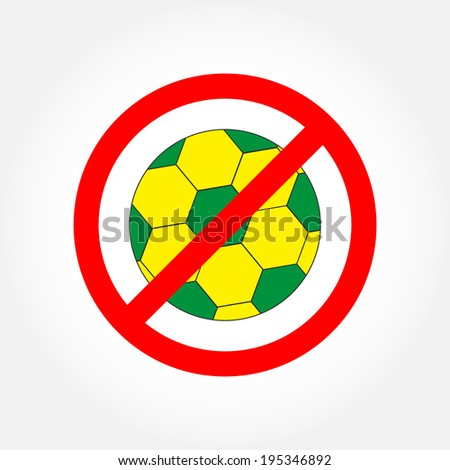 no play or football sign