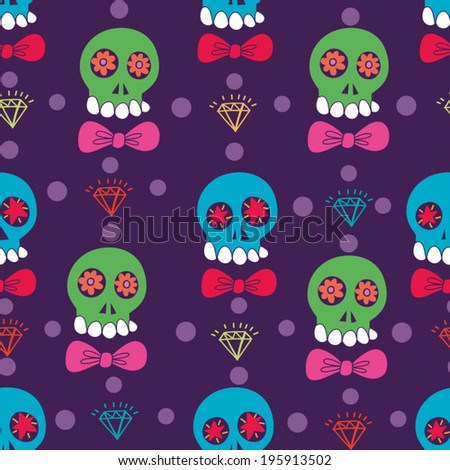 vector seamless pattern with