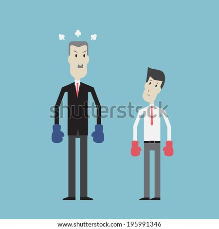 businessman vs boss   vector