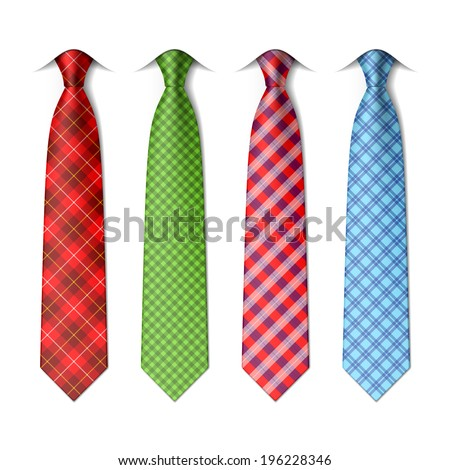 plaid  checkered silk ties
