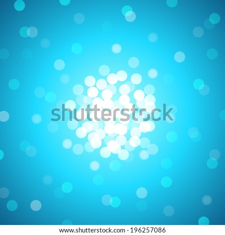 abstract blue sky with lens