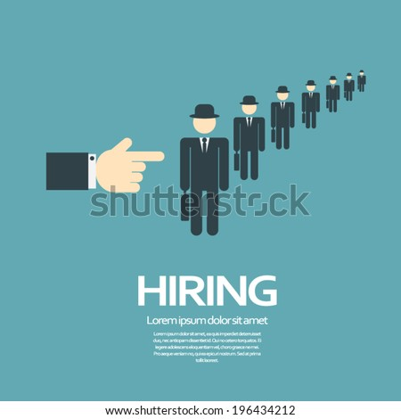 hiring process concept with