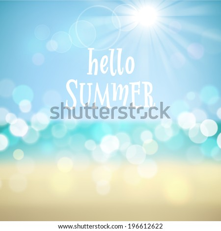 hello summer poster on