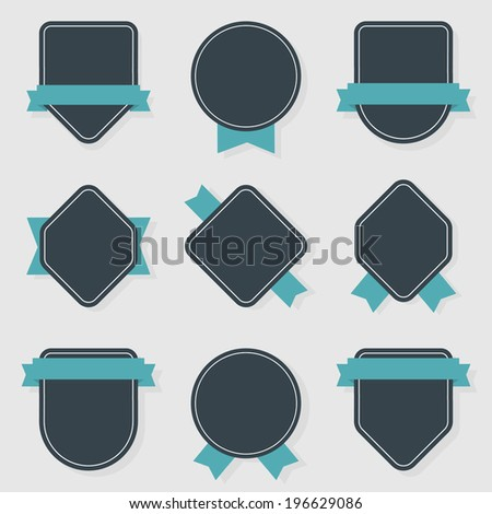 vector collection of labels