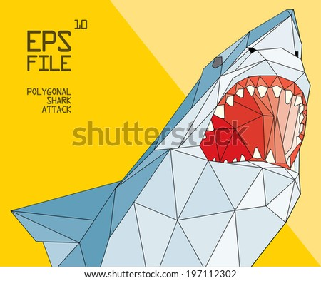 polygonal shark illustration