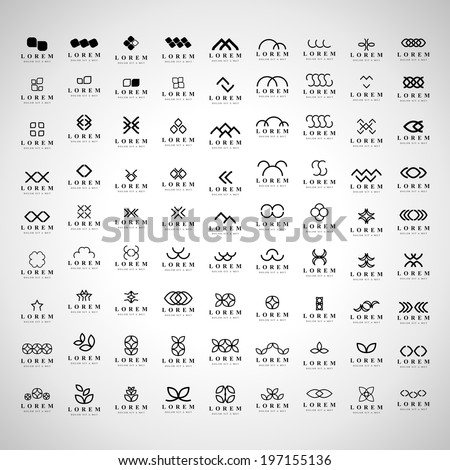 unusual icons set   isolated on