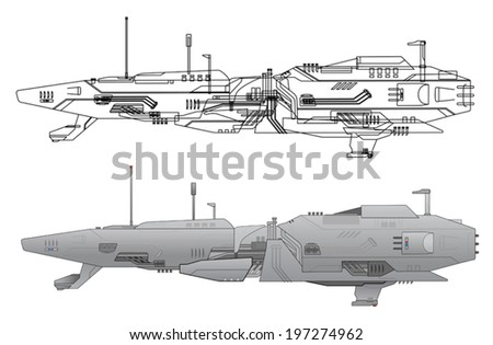 sci fi ship