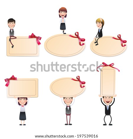business people with invitation