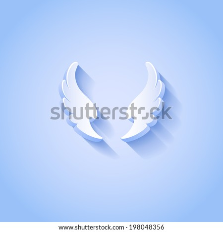 white wings vector icon