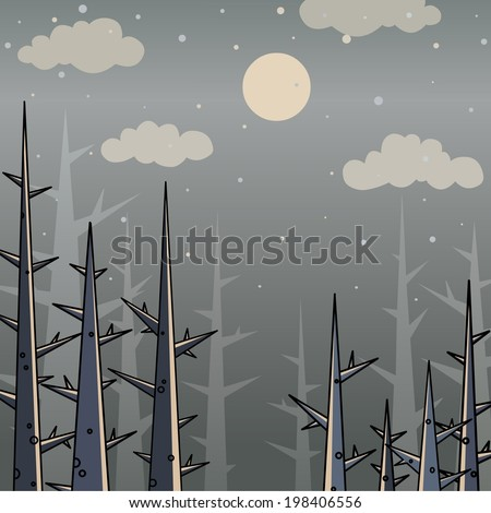 vector background gloomy gray